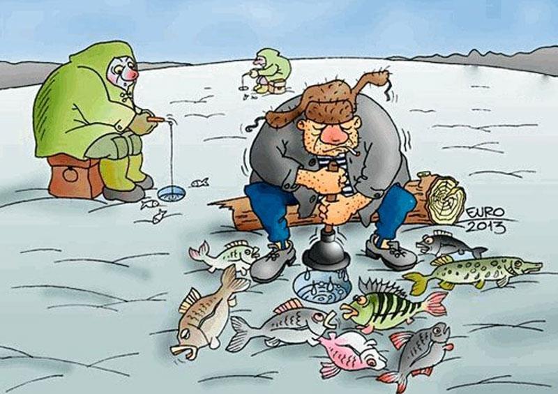 Рамки, смешные рисунки про рыбалку