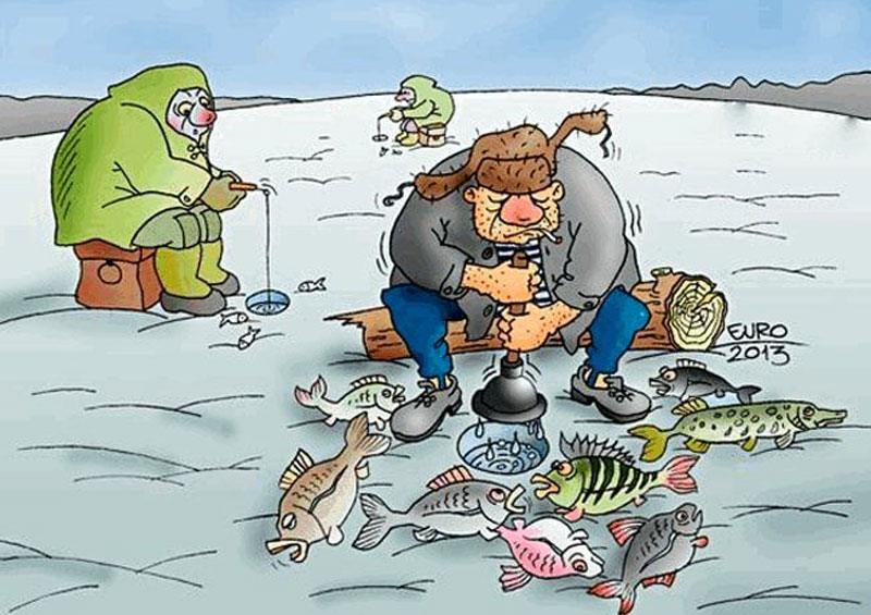 Картинка прикол про рыбаков